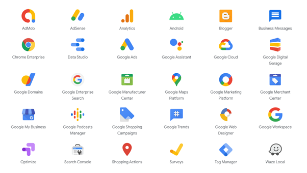 Google's 270+ products, services, and platforms
