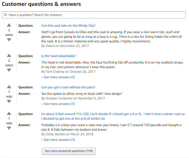 XPath and how to find customer questions and preferences