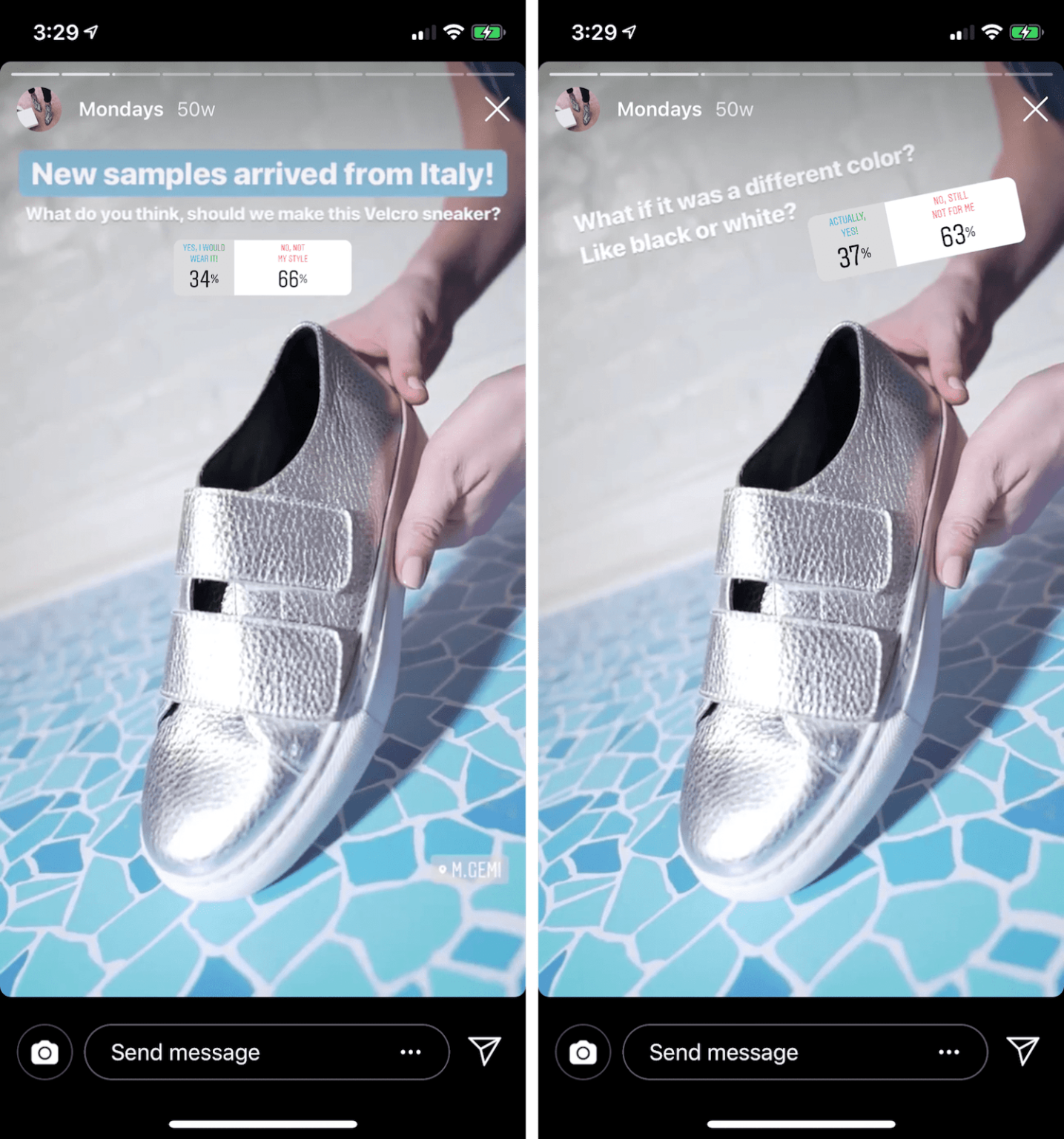 Using questionnaires to improve customer satisfaction - Instagram Polls