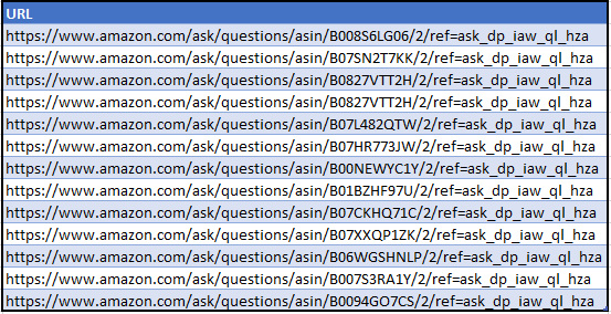 List of questions - XPath and creating content