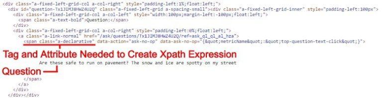 Determine the XPath