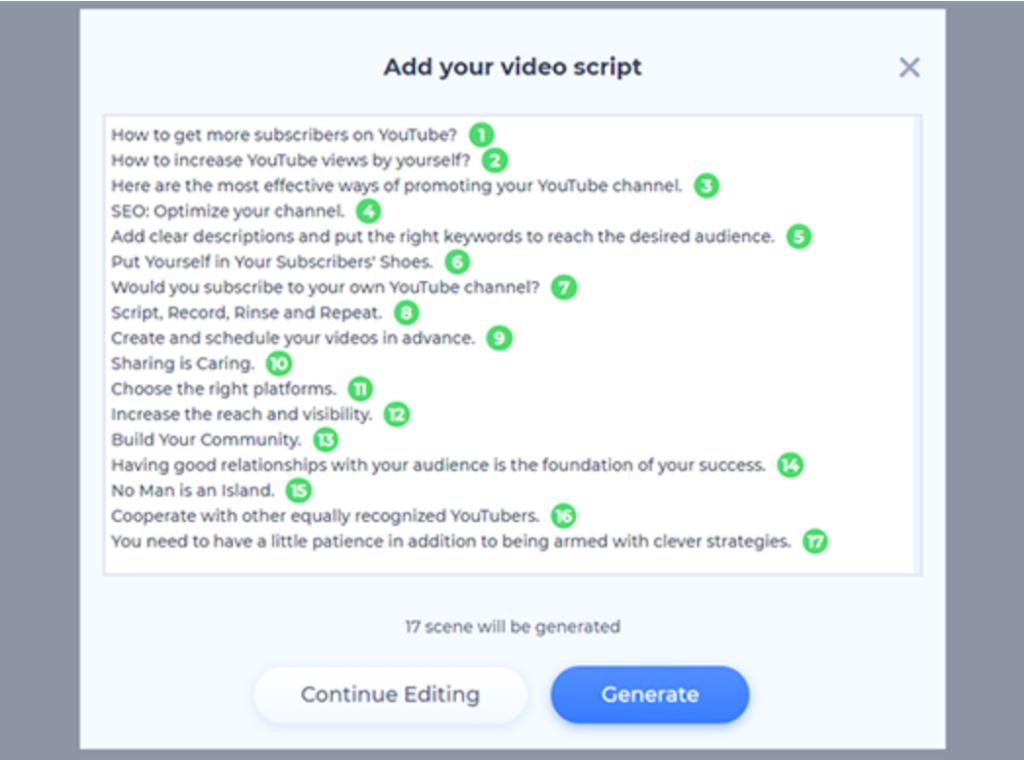 Text to video - Transcript