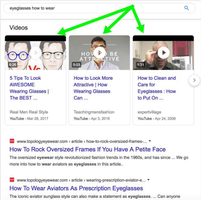 What are Google's video carousels