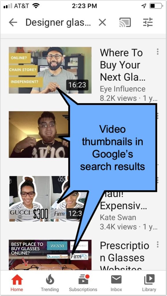 Create eye-catching video thumbnails to rank in Google's video carousel